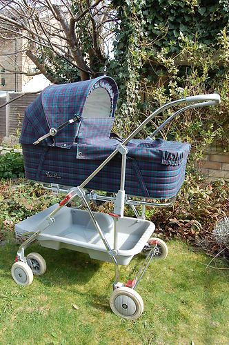 Silver Cross Pushchair Pram Carry Cot Vintage Baby Prams