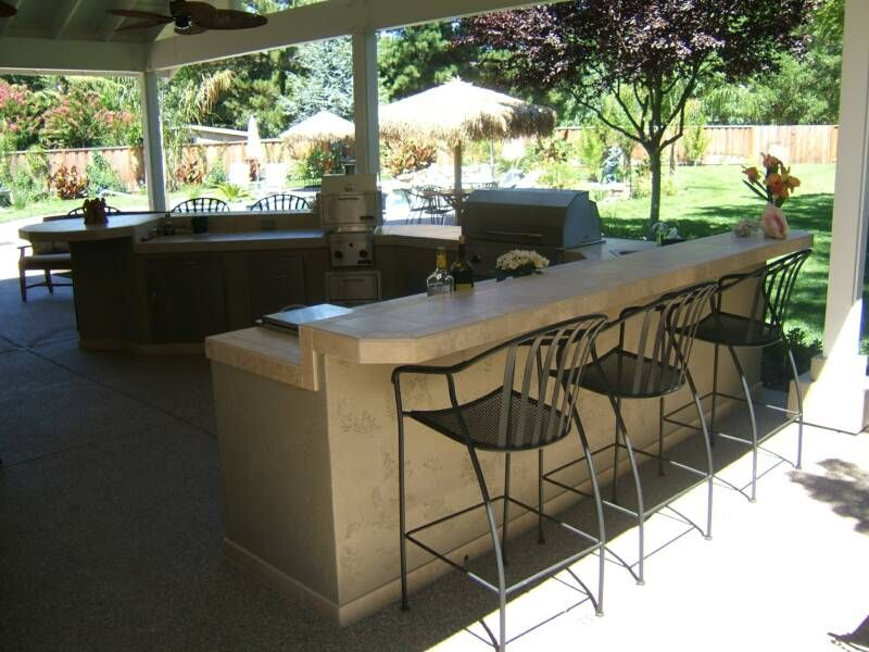 Custom outdoor kitchens in the bay area bbq island for Outside barbecue area design