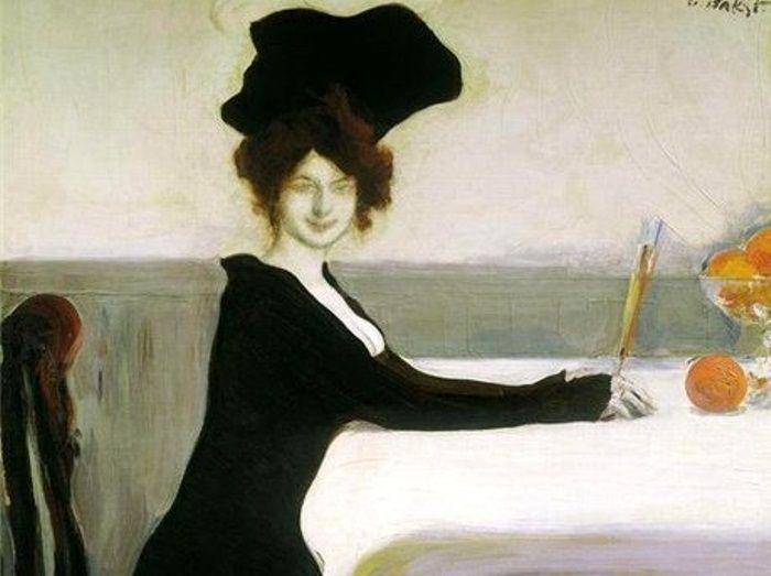 Л. Бакст. Ужин, 1902. Фрагмент | Фото: art-assorty.ru