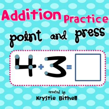 Addition: Point and Press with Extra Large Print | Worksheets ...