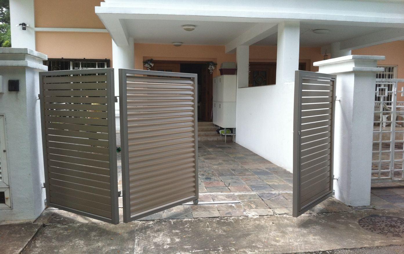 Bi Fold 3 Panel Entrance Gates Design Door Gate Design Grill Gate Design