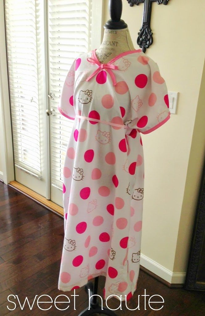 Hospital Gown Free Pattern +tutorial DIY delivery gown - SWEETHAUTE ...