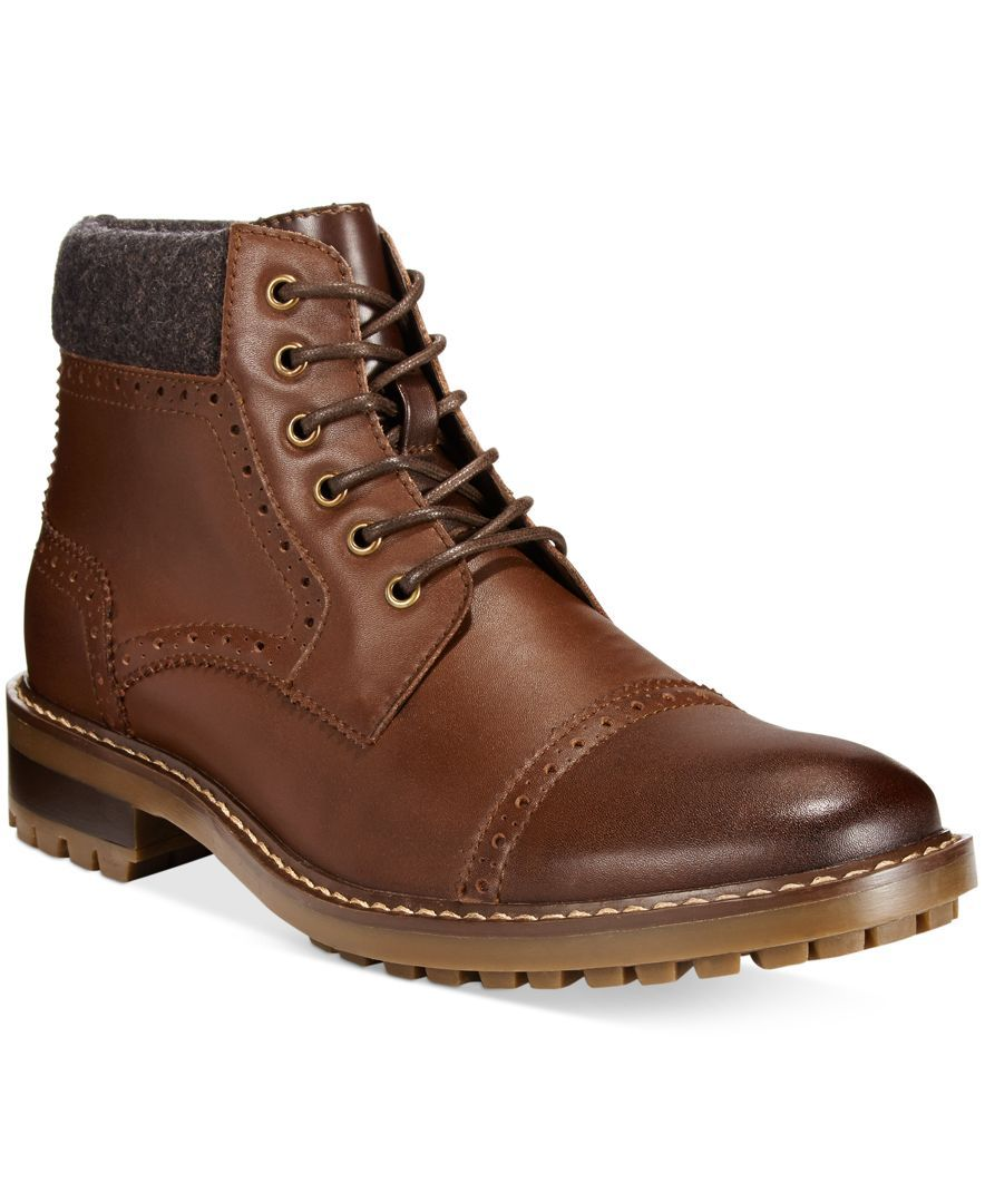 2c5d638c2b0a4 Rugged with a touch of formality, these cap toe chukka boots from Alfani  will add unmistakable personality to your casual style.   Leather upper   man-made ...