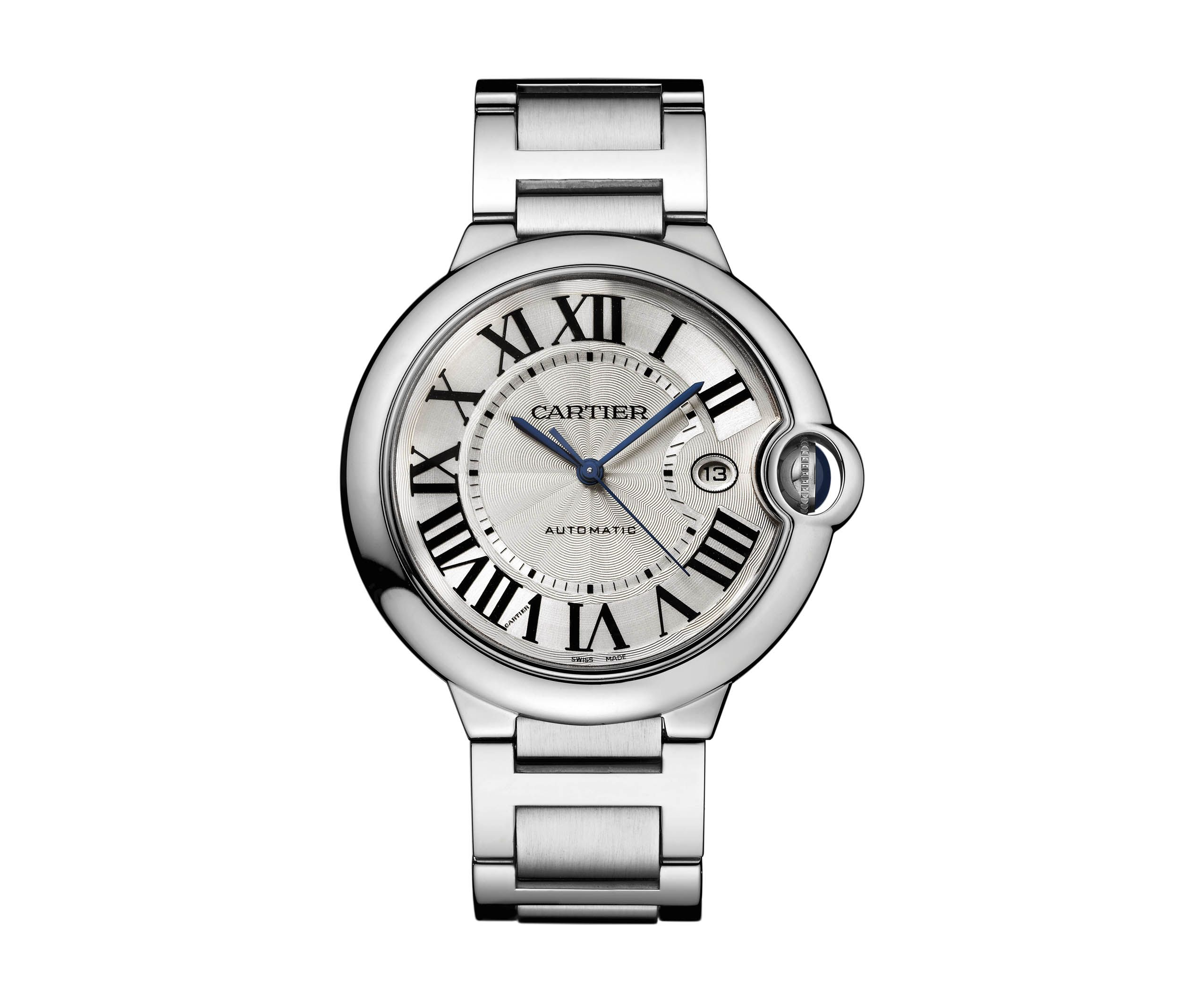 Ballon Bleu De Cartier Watch 42 Mm Automatic Steel Leather