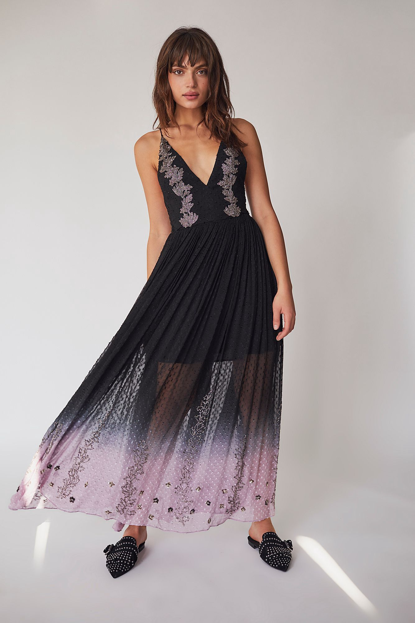 f88679015c1b Free People So Embellished Maxi Dress - Charcoal 4 | Products ...