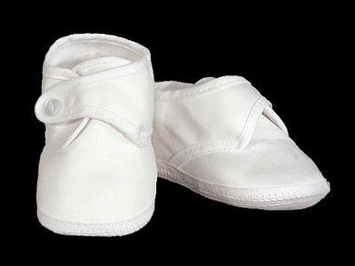 Boys Cotton Sateen Shoe | Christening shoes