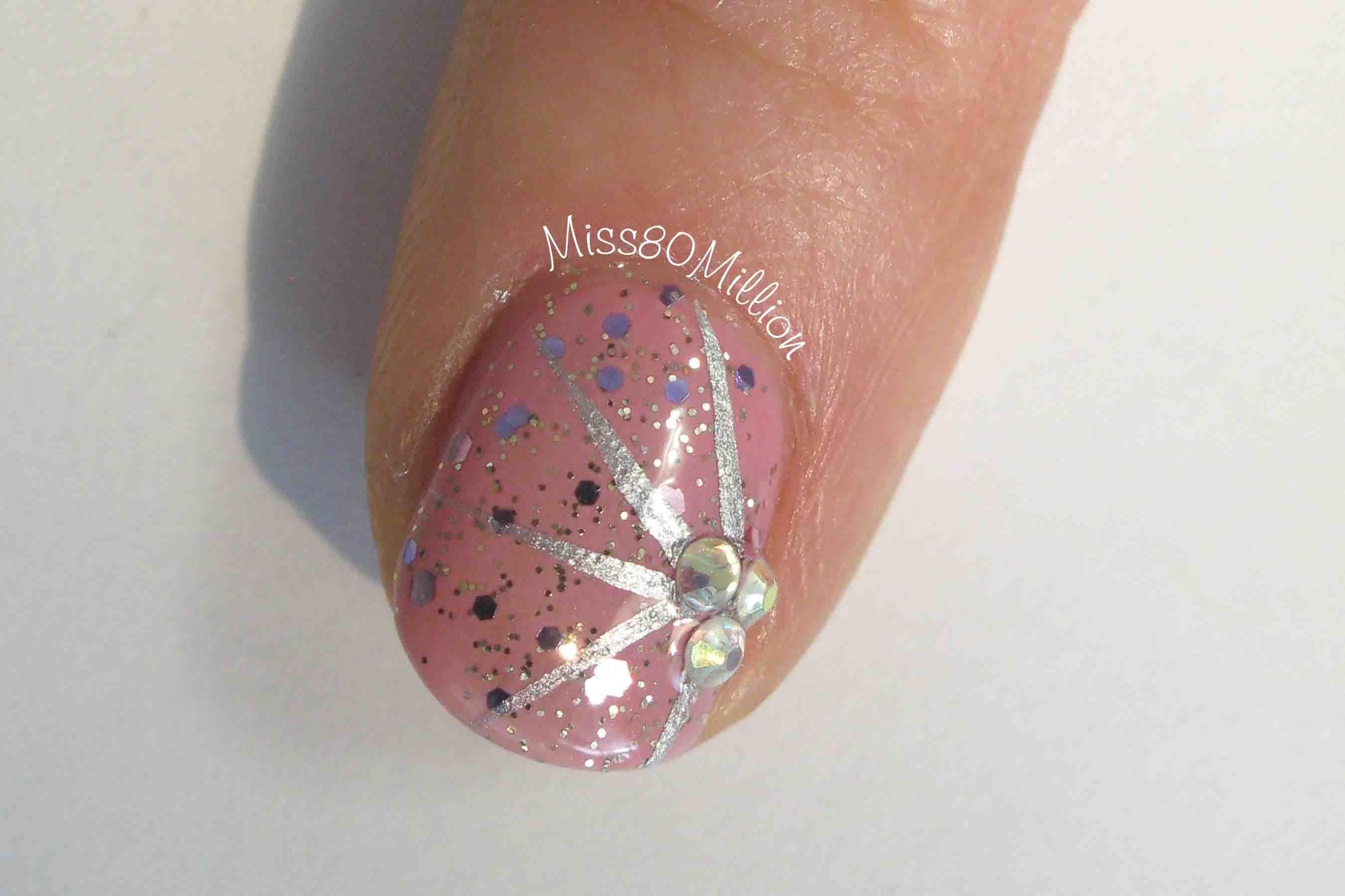 Spark of Pink - Free Hand Nail Art Tutorial | Nail Art | Pinterest ...