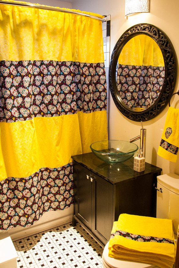 New Custom Bathroom Decor Shower Curtain Bath Towels Hand Towel