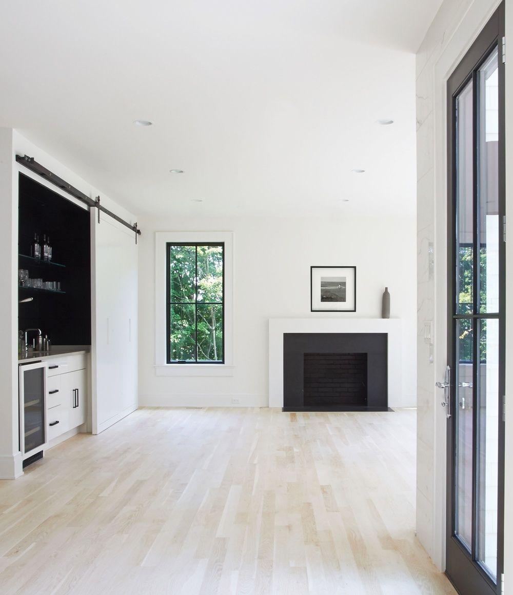 Family Room Black Amp White Details In 2019 Modern