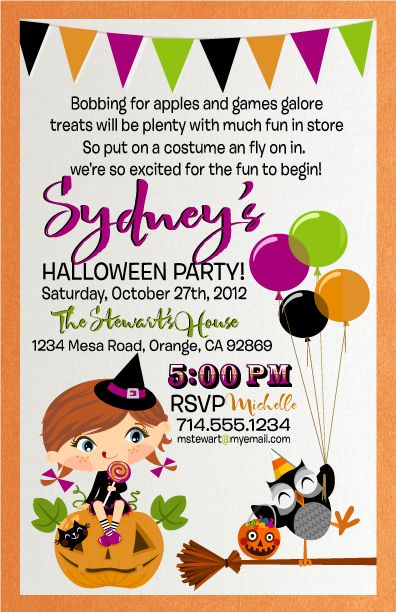 Kids Halloween Costume Party Invitation Delightinvite