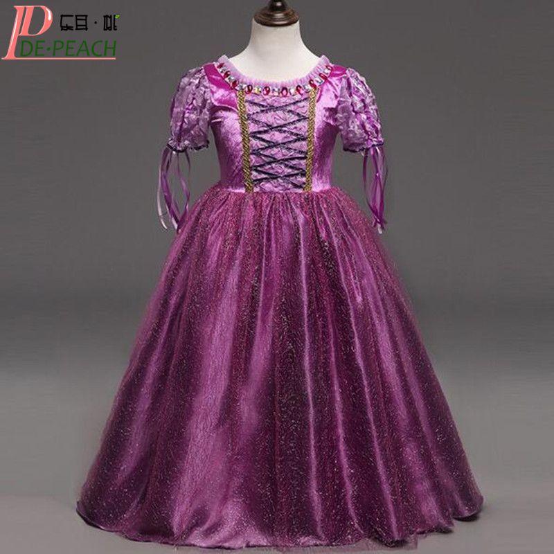 2017 Vestido Baby Girls Purple Dress Fashion Sophia Princess Christ ...