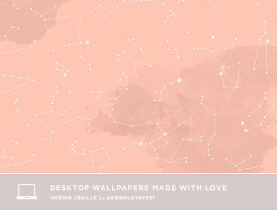 Dress Your Tech 41 Pink Constellations Design Love Fest Aesthetic Desktop Wallpaper Pink Wallpaper Desktop Aesthetic Wallpapers