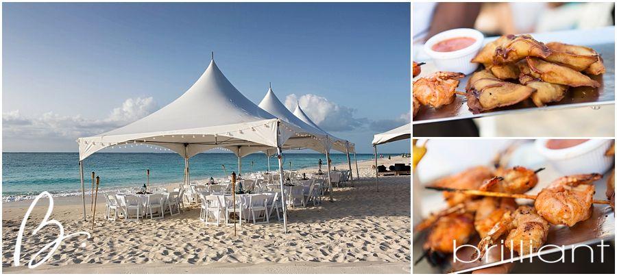 Beach Wedding Reception At The Gansevoort Resort Turks And Caicos Brilliant Blog
