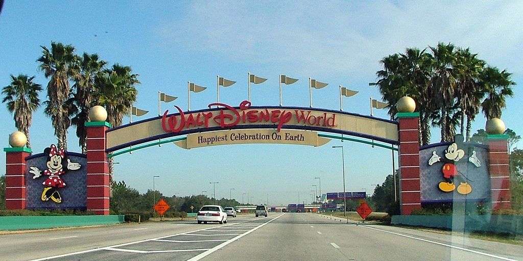 Walt Disney World Orlando Florida Theme Park And Rides Entrance Gate