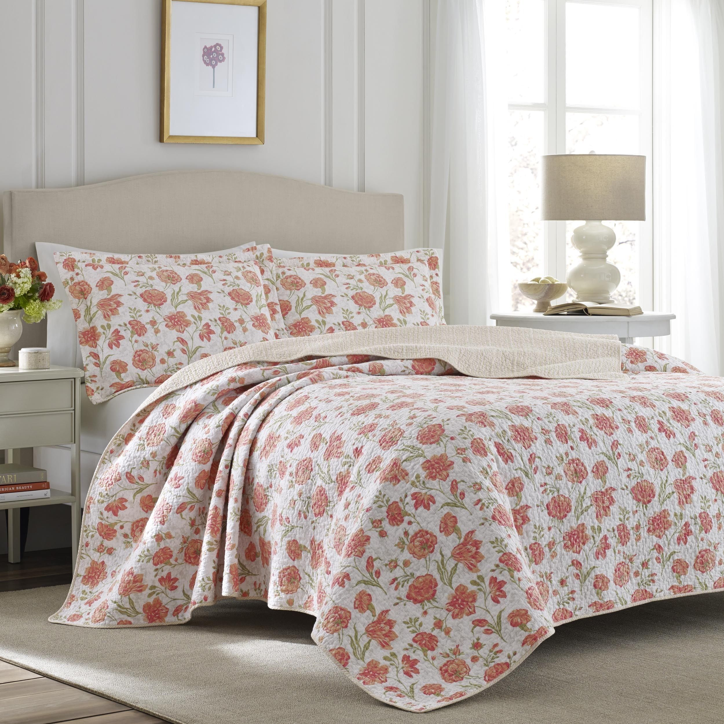 laura ashley cadence apricot quilt set products pinterest