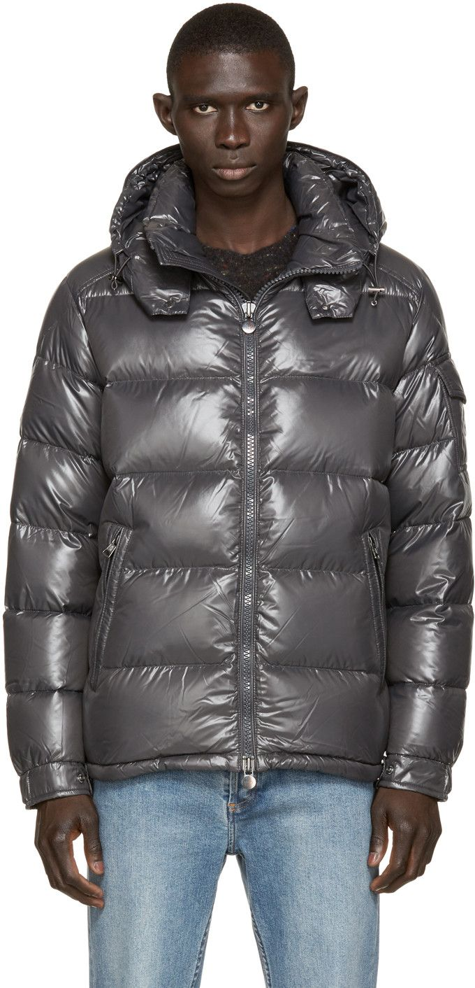 Moncler Charcoal Quilted Down Maya Jacket Stylish men