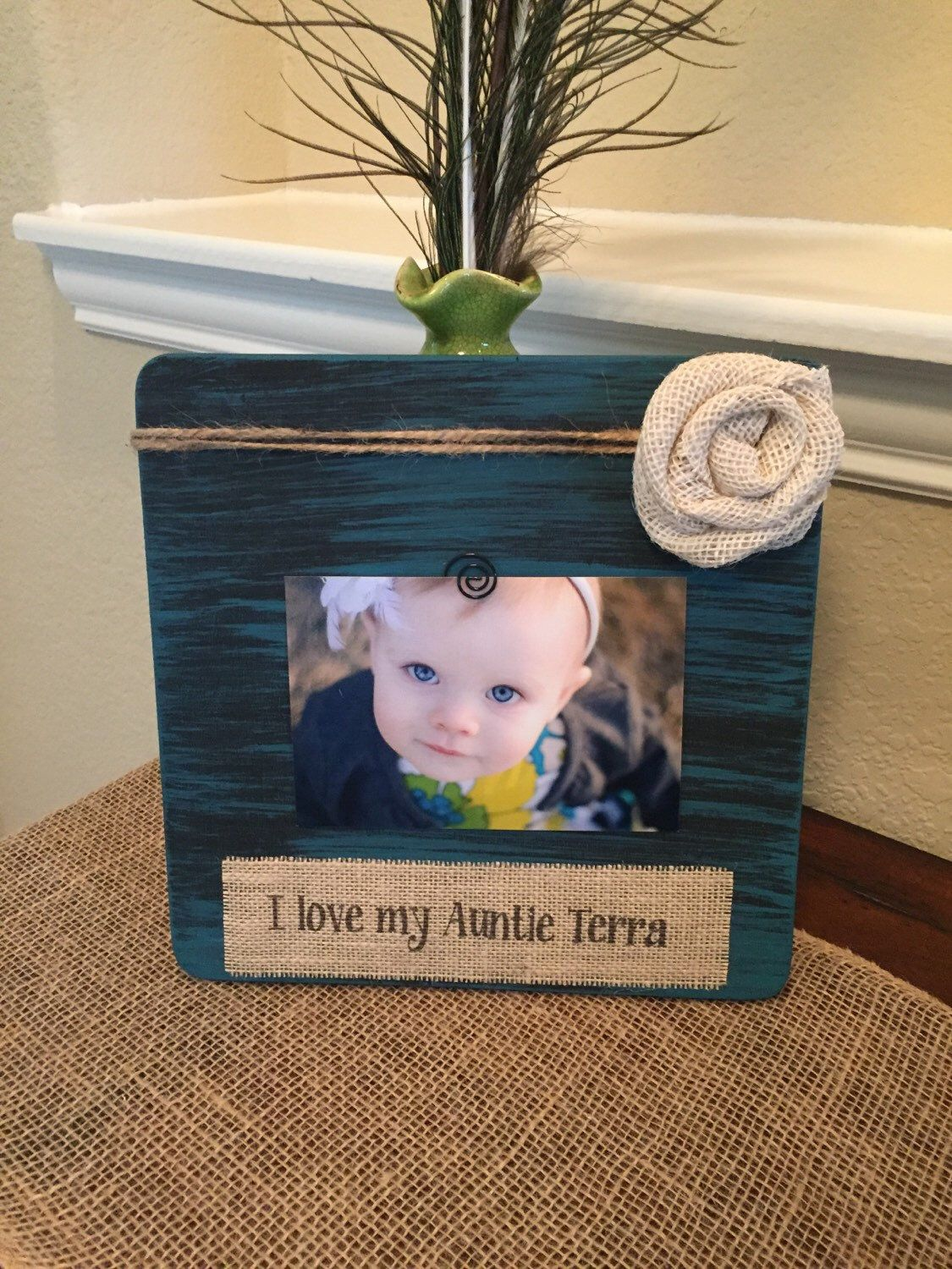 Personalized aunt picture frame new aunt gift baby shower aunt ...