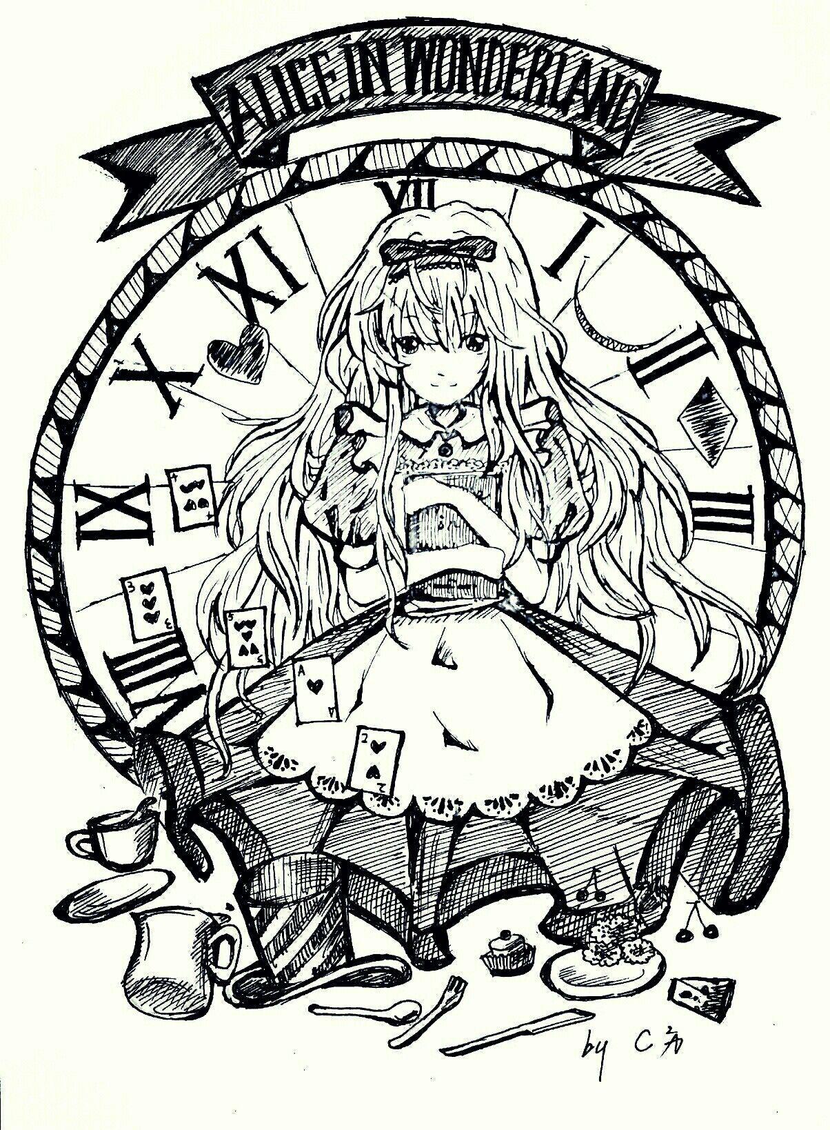 Pin By Erin On Alice Im Wunderland Hinter Den Spiegeln Alice In Wonderland Wonderland Tattoo Wonderland [ 1638 x 1204 Pixel ]