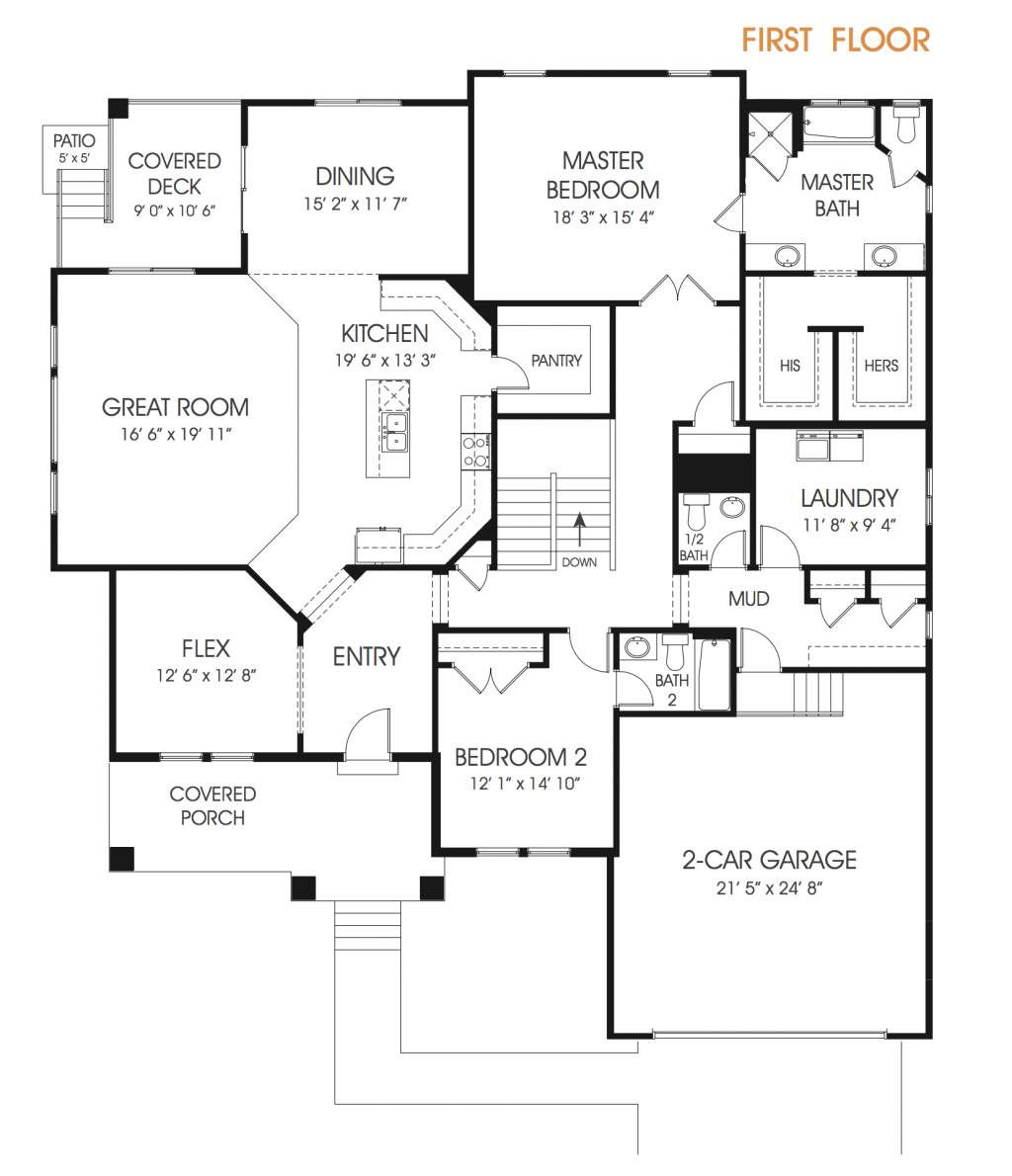 Paisley Utah Rambler Floor Plan Edge Homes Rambler House Plans Floor Plans How To Plan