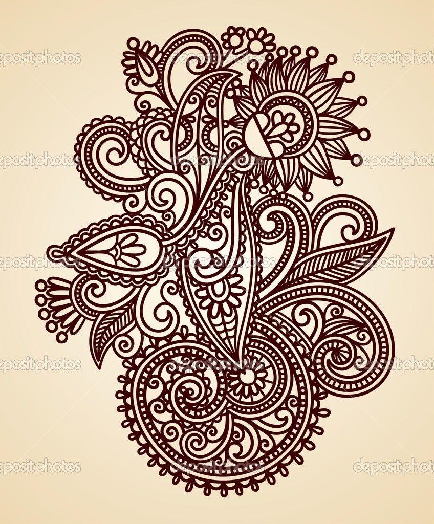Waar Henna Tattoo Kopen: -Henna-floral-tattoo- (met Afbeeldingen)