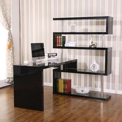 Found It At Wayfair Foldable Rotating Corner Desk Computer Desk With Shelves Corner Desk Office Home Office Furniture