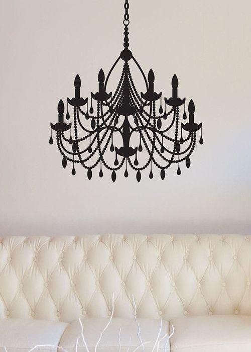 Plaza chandelier wall decal in black though i would prefer a real plaza chandelier wall decal in black though i would prefer a real one mozeypictures Images