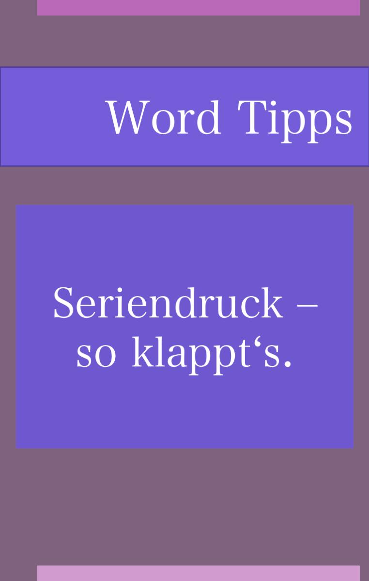 Einen Serienbrief In Word Erstellen In 2020 Excel Tipps Buroorganisation Tipps The Words