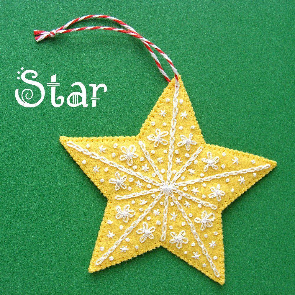 Star Ornament Pattern Felt Ornaments Patterns Felt Christmas Ornaments Felt Ornaments