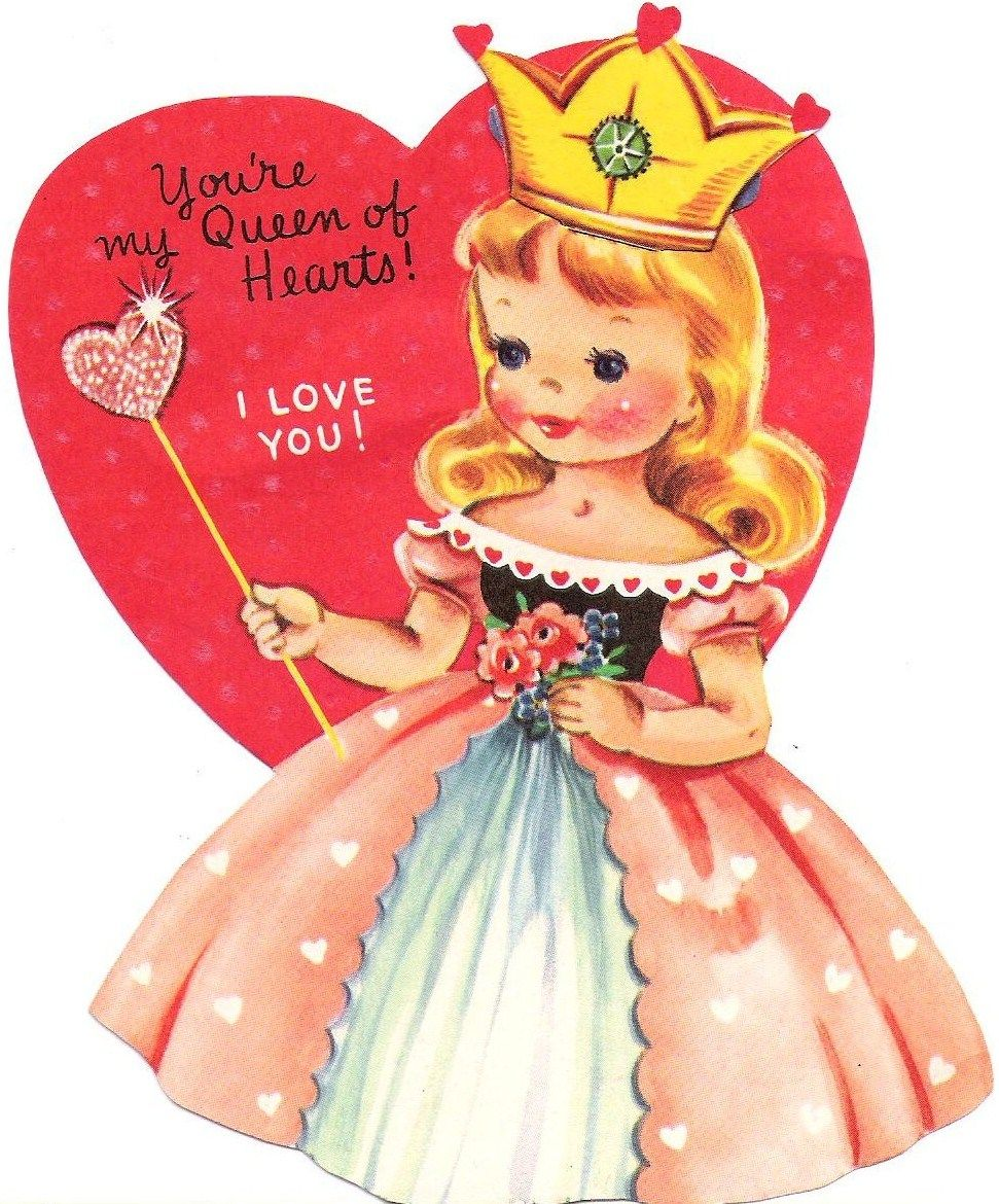Image result for 1960's old fashioned vintage valentine cards