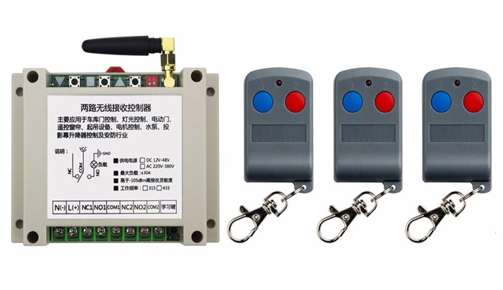 Click to Buy << latest DC12V 24V 36V 48V 10A 2CH RF Remote Control ...