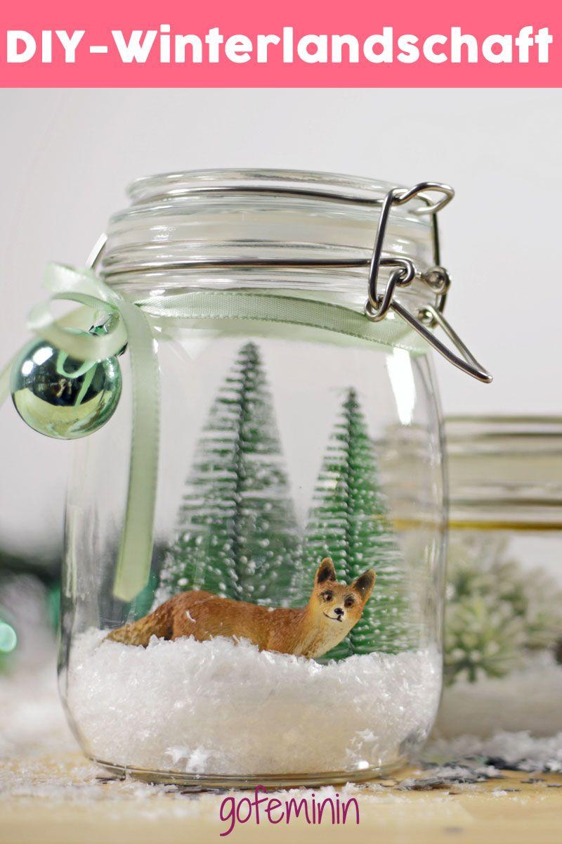 Winterlandschaft im Glas: Märchenhafte Deko zum Selbermachen #weckgläserdekorieren