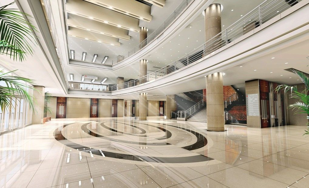 Financial Group Building Lobby Interior Design Jpg 1018