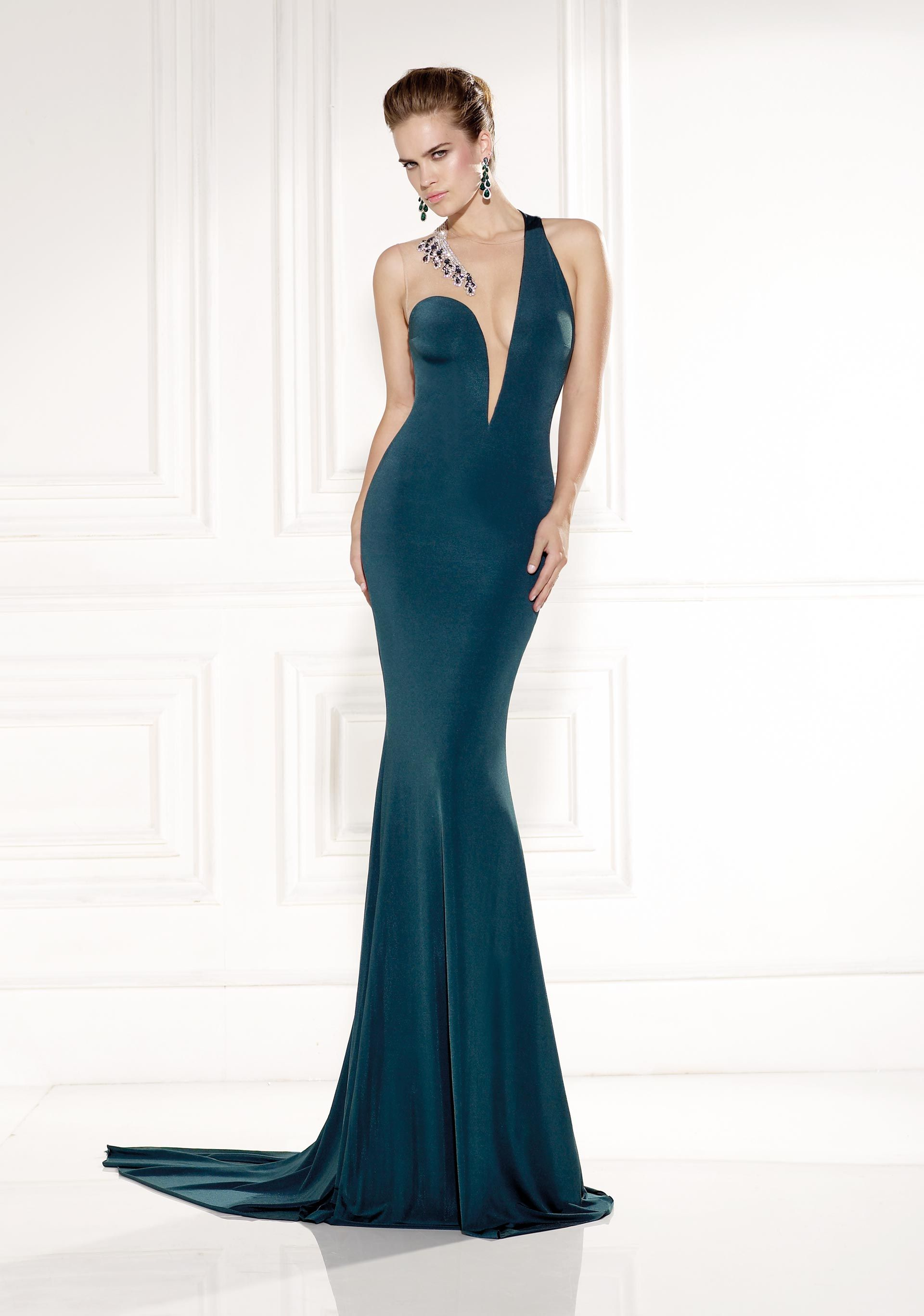 Gorgeous Teal Dress. Tarik Ediz | Prom | Evening Dresses | Abiye ...