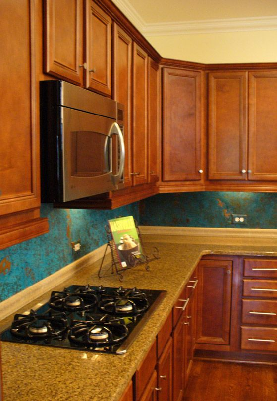 azul copper backsplash i love this house kitchen ideas pintere