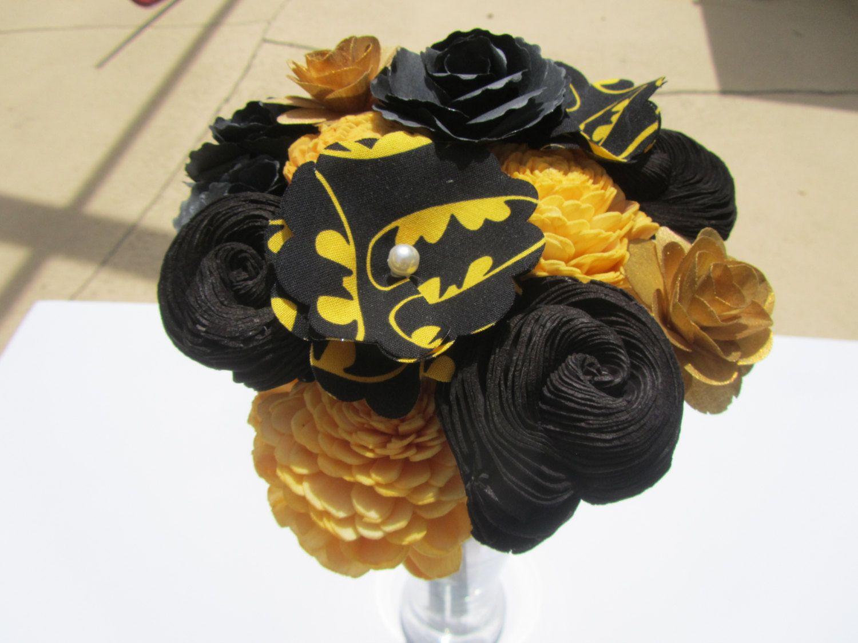 Batman Flower Bouquet Dc Comic Book Wedding Girlfriend Gift Nerd