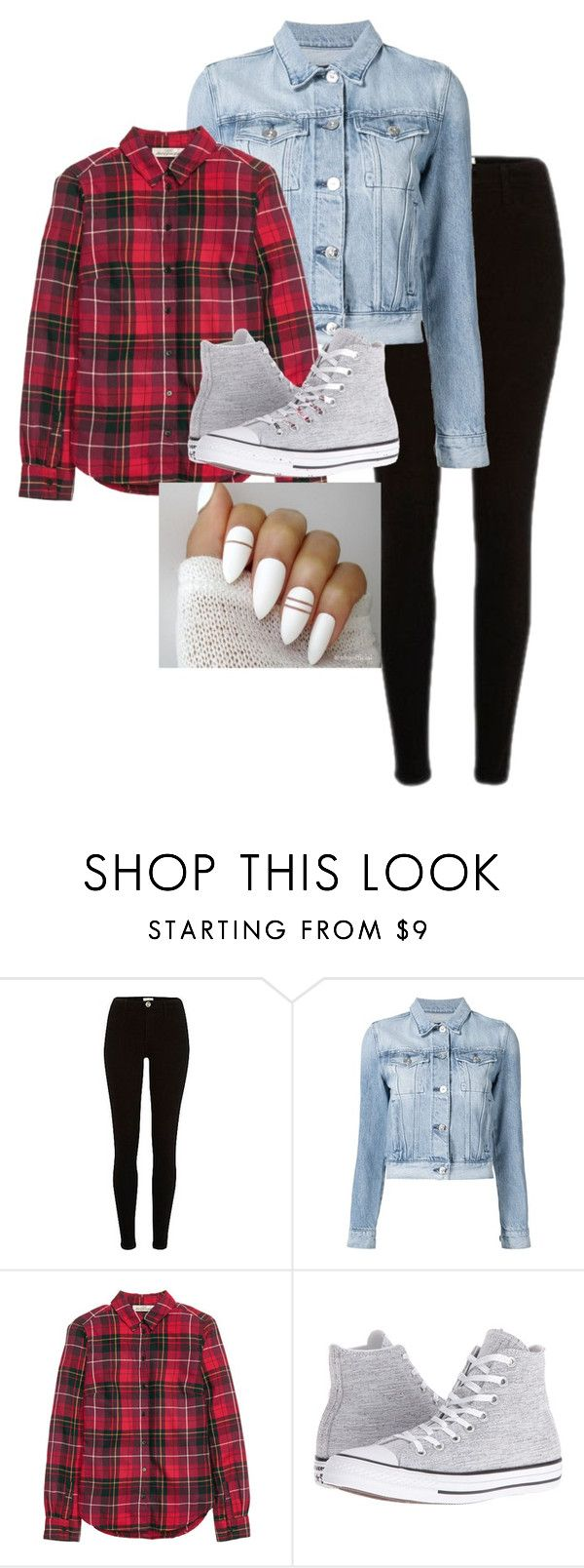 """Just simple"" by yam-chip ❤ liked on Polyvore featuring 3x1 and Converse"