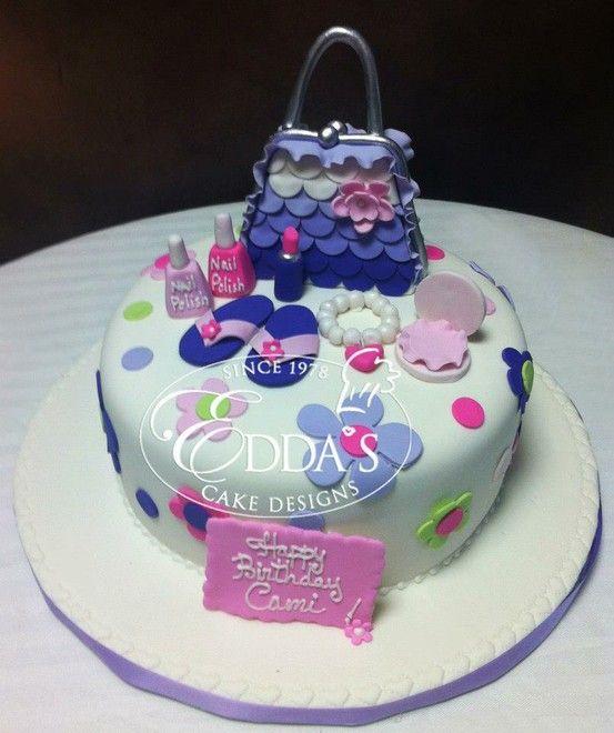 Cake Design By Edda Recipe : Makeup kit Birthday cake. Birthday Cakes Pinterest ...