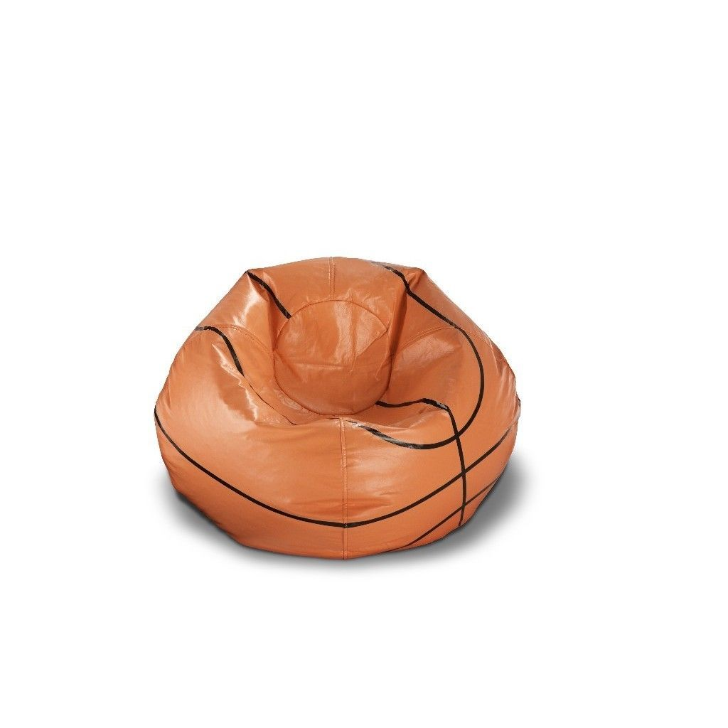Basketball Bean Bag Chair Ace Casual 96 Inch Vinyl Sports Bean Bag Chair Basketball