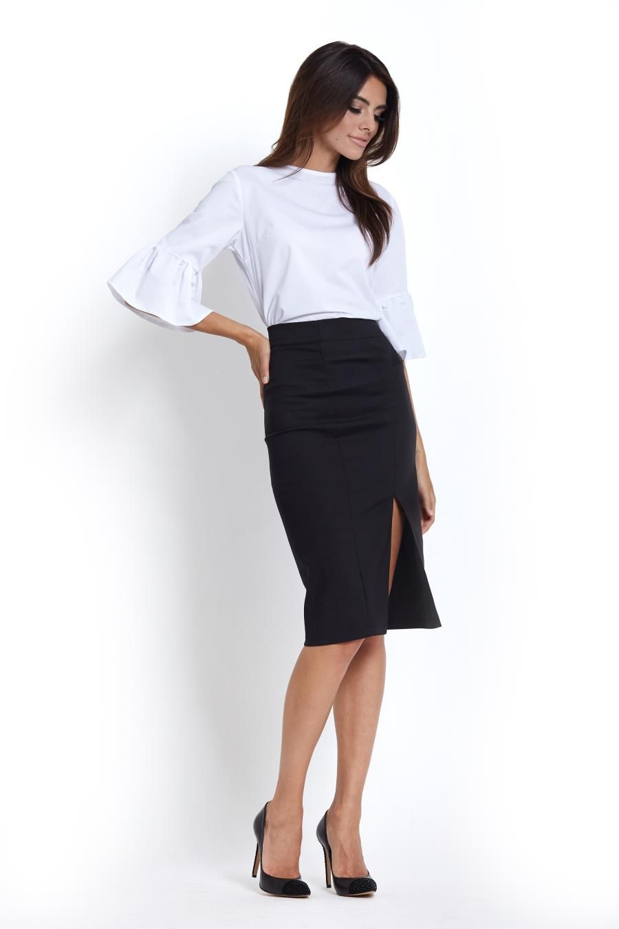 434691d2 Elegancka Spódnica Ołówkowa Czarna SP60 | Kolekcja Business Everyday ...