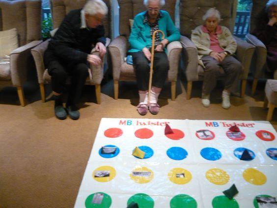 Beanbag Twister For Preschoolers Haven T Tried It Yet Memory Care Activities Nursing Home Activities Elderly Activities