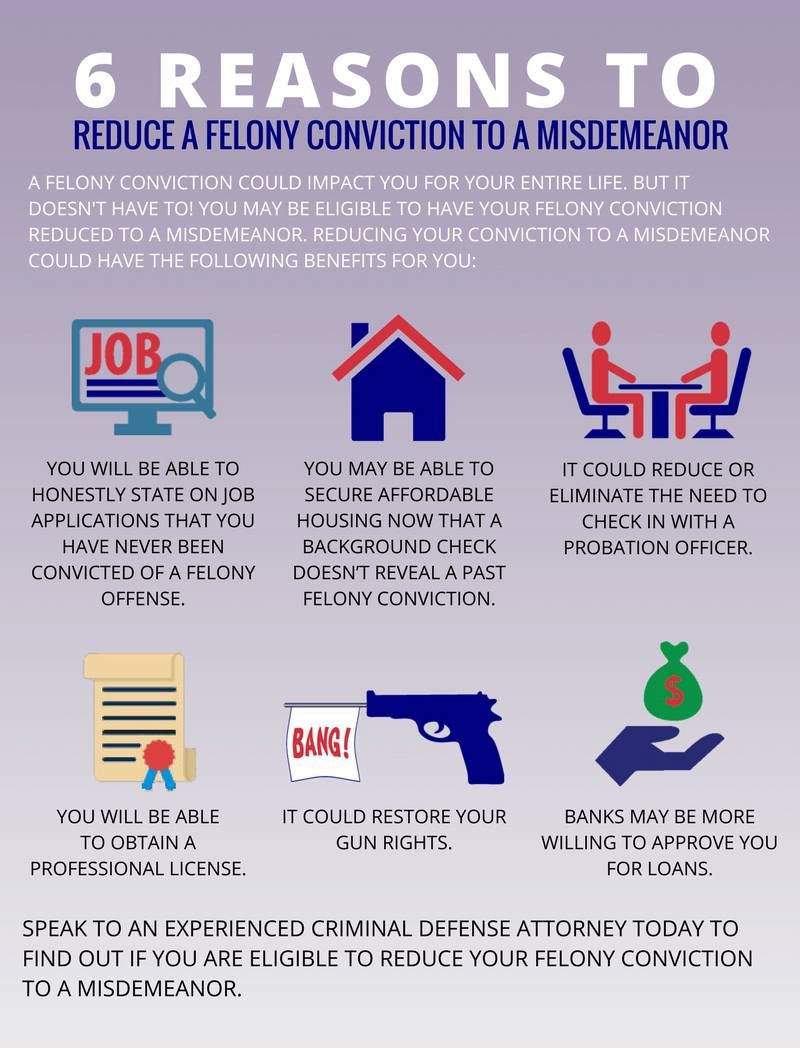 How To Get A Felony Reduced To A Misdemeanor