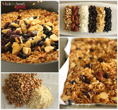 skillet granola - would sub coconut oil for the butter . . .
