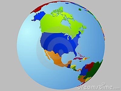 North America Globe Map Stock Images Image 12433304 Globes