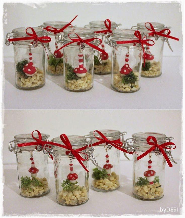 byDESI ♥ ... Kreatives mit Herz: Glück im Glas ... #weihnachtsdekoglas