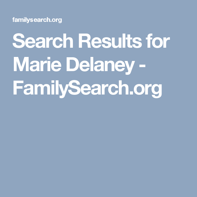 Search Results For Marie Delaney