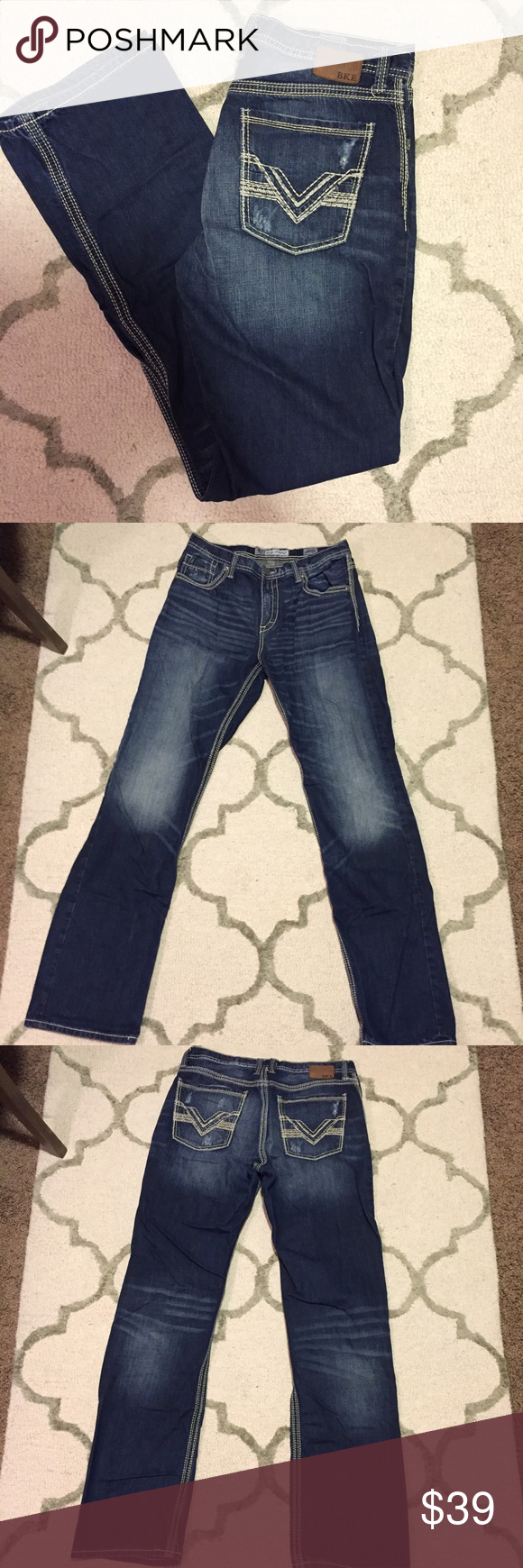 BKE men's Tyler straight jeans BKE Denim by Buckle, Tyler straight style, size 34XL. In perfect condition! Retails for $75. BKE Jeans Straight