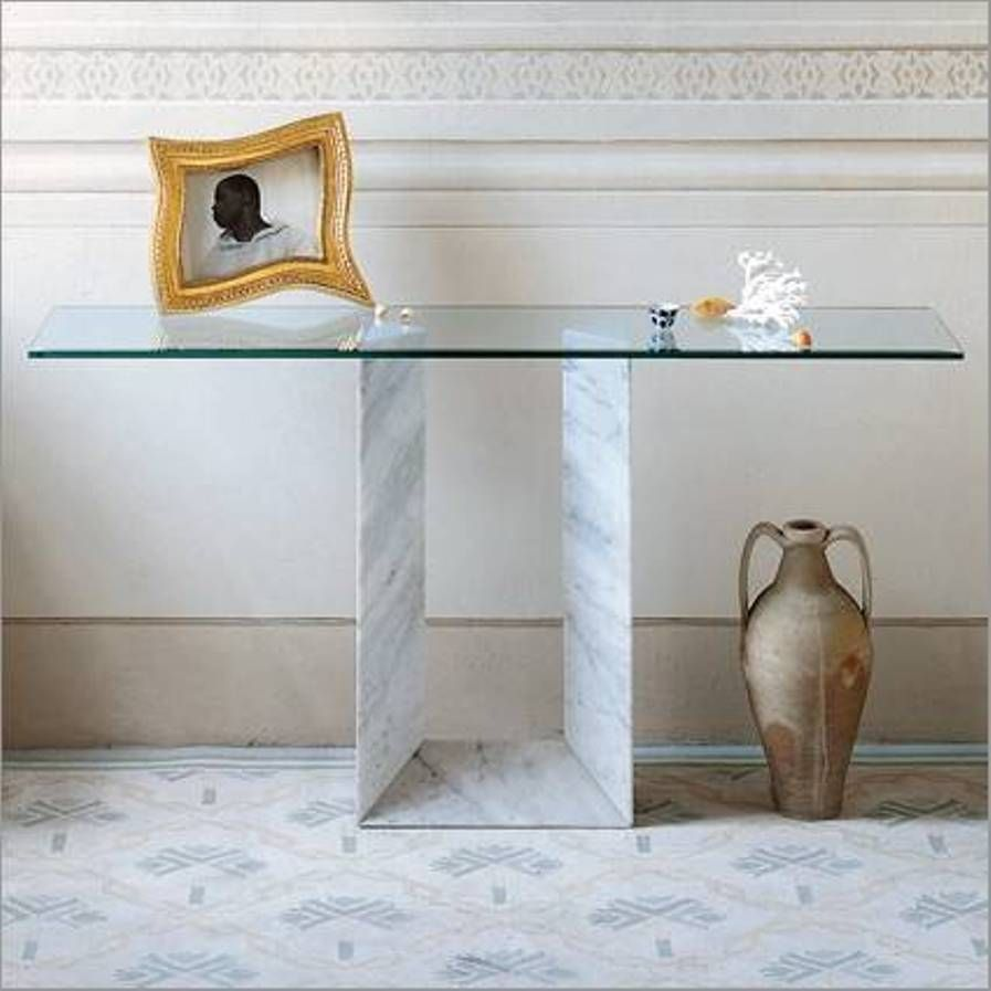 Furniture Glass Modern Console Tables Italian Glass Modern
