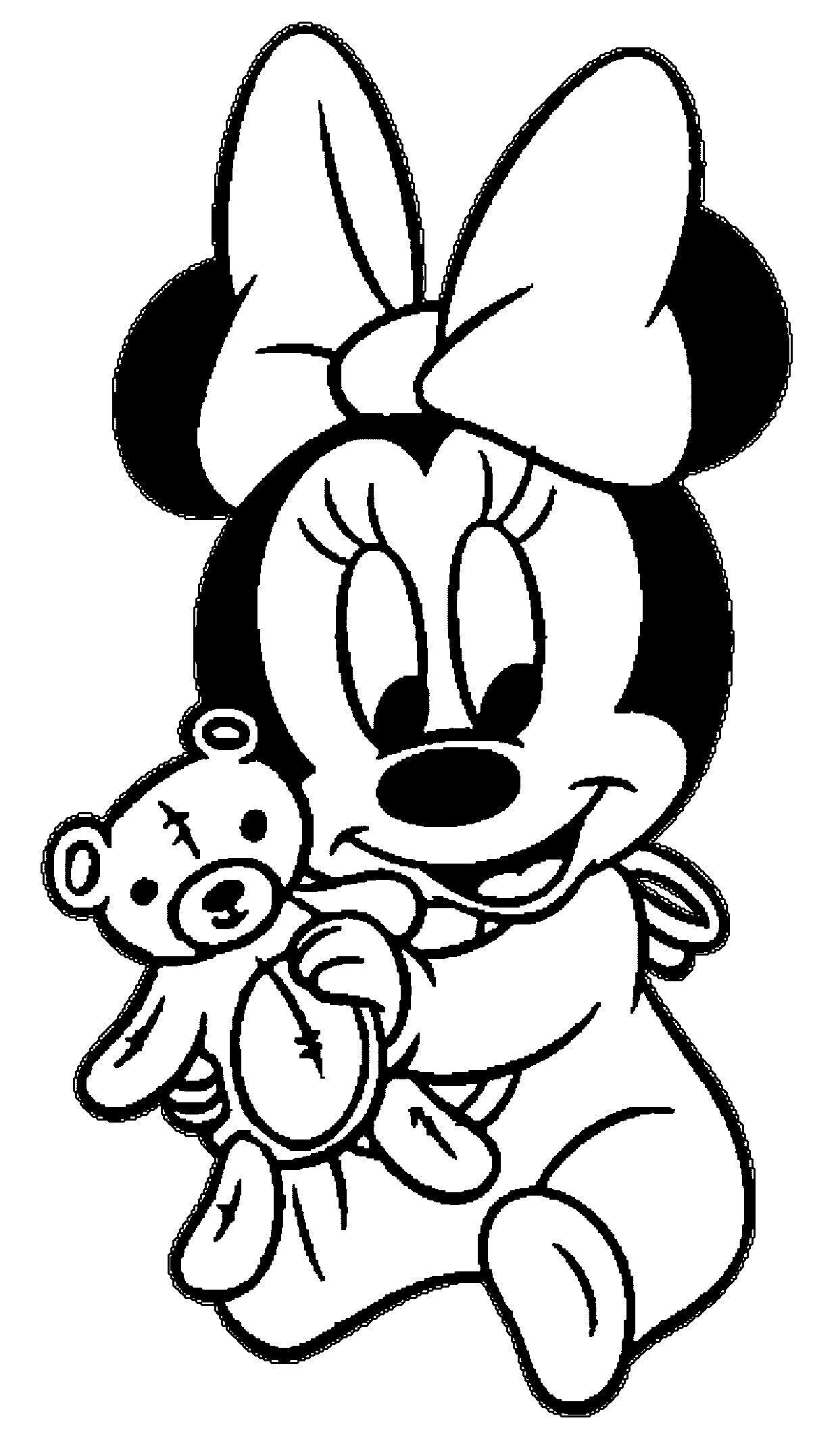 Coloring Pages Of Minnie Mouse As A Baby