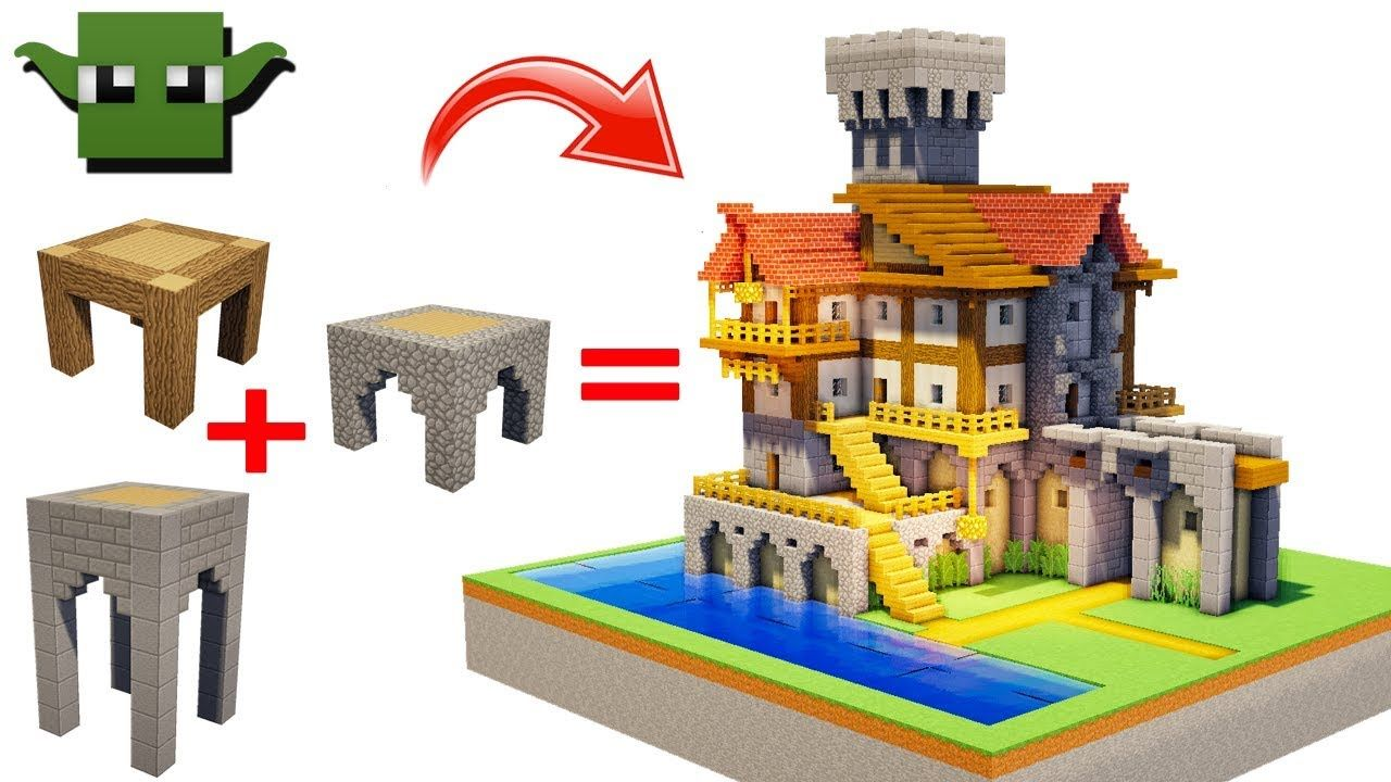 Minecraft Medieval Merchant House Easy 5x5 Building System