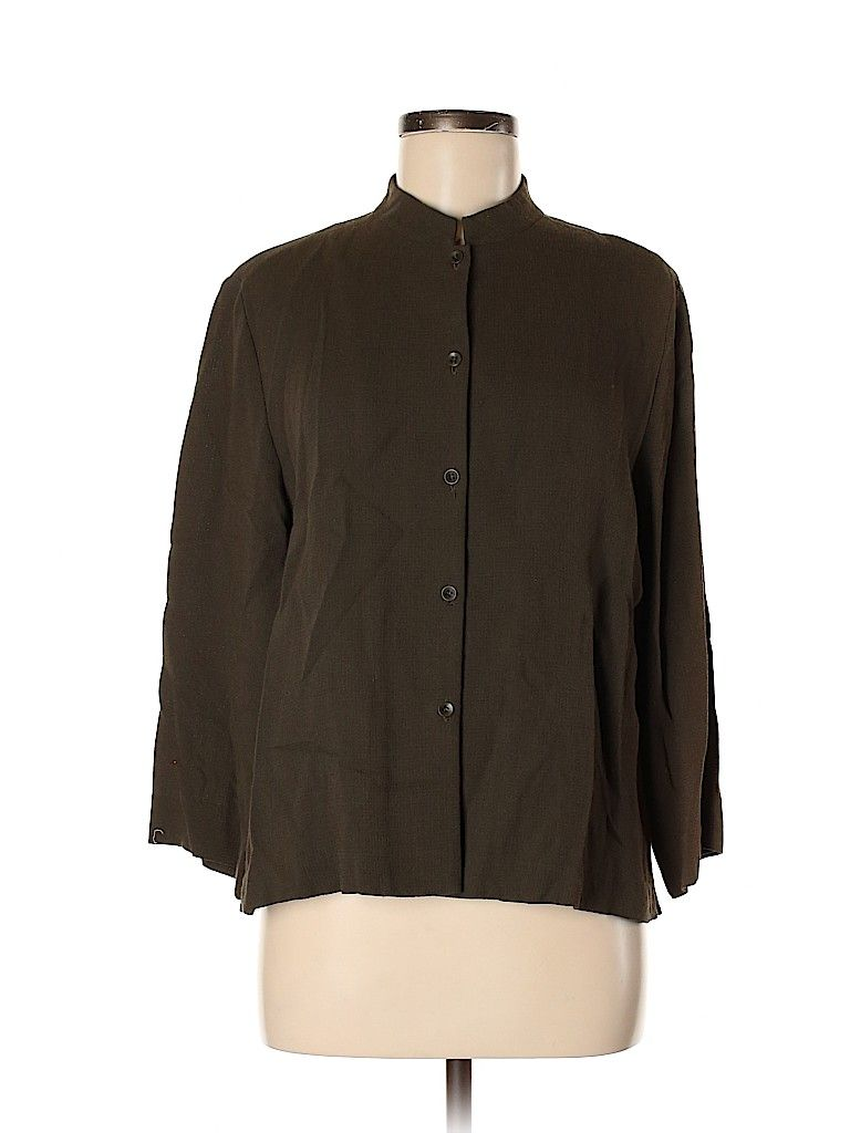 Eileen Fisher Solid Green Jacket Size M 86 Off Outerwear Women Eileen Fisher Jacket Eileen Fisher [ 1024 x 768 Pixel ]